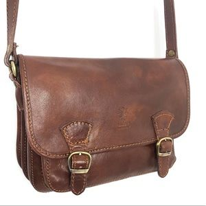 Vera Pelle cognac shoulder bag